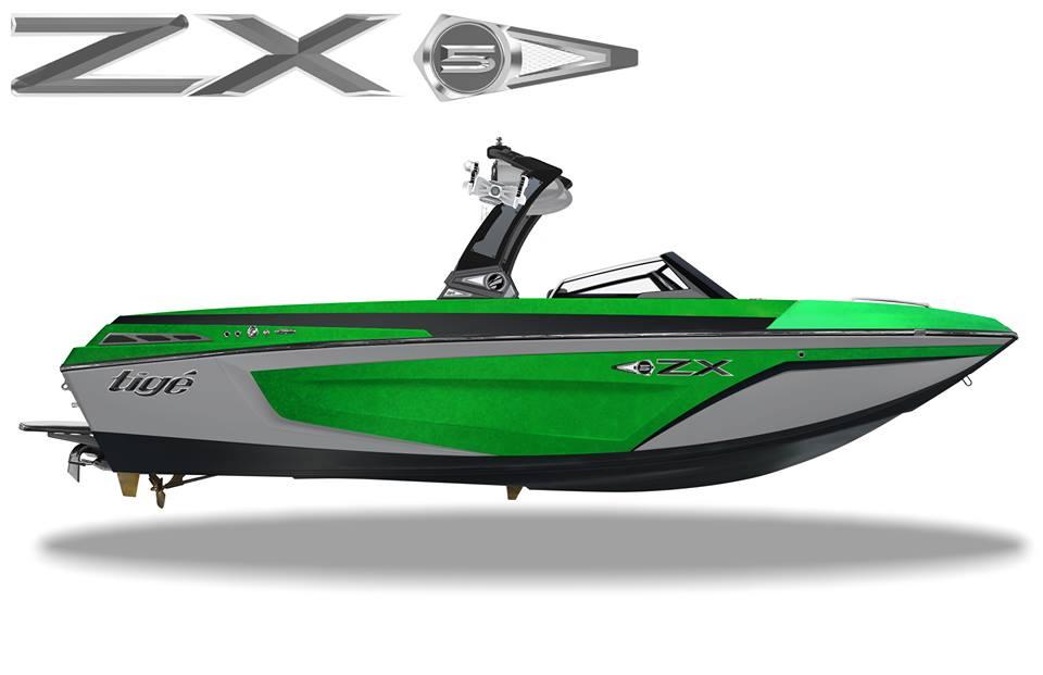 Вартинты окраски корпуса катера нового флагмана Tige Boats Tige ZX5
